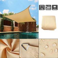 Shade Outdoor Sail Waterproof Polyester Sunproof Mesh Net Garden Furniture Protection Awning Sunshade Pool Canopy 2x2m 3x3m