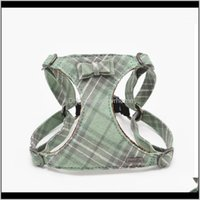 Collars Leashes Supplies Home & Gardencotton Plaid Small Vest Chest Bowtie Mesh Padded For Puppy Pet Dog Walking Harness Yorkshire Chihuahua