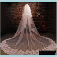 Products & Tools Hair Lace Edge White Ivory Cathedral Long Bridal Veil Wedding Aessories 4M 5M Drop Delivery 2021 K2Hqj