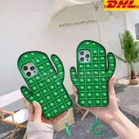 Decompression cactus fidget phone cases cover For iPhone 12 11 pro promax Xs Max 7 8 Plus DHL Shipping CPA3455