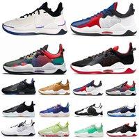Paul George PG 5 V Erkek Basketbol Ayakkabıları Yüksek Kaliteli Clippers Bred Mavi Toz Biber Turşusu Çok Renkli Oreo PlayStation PG5 eğitmenler erkekler Spor Sneakers 40-46