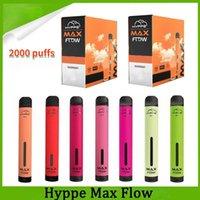 Hympe Max Débit Visable Vape Cigarettes électroniques Kit de démarreur Pod Device 2000 Puffs Pre remplie 6ML 900mAh Vapeurs de batterie en gros DHL