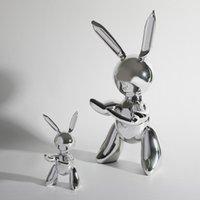 الكائنات الزخرفية التماثيل الشمال الإبداعي الكرتون الفضة عرض جيف كواون النحت مجردة الفن اكسسوارات المنزل