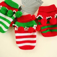 Dog Apparel Winter Clothes For Dogs Warm Pet Christmas Knitted Sweater Two-Legged Stripe Coat Small Medium Clothing