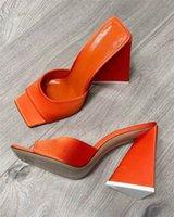 Top Quality Silk Chinelos Mulheres Verão Moda Real Bottom Sandálias 7cm e 10 cm de salto alto sapatos casuais Flip Flops Open Toe Scuffs