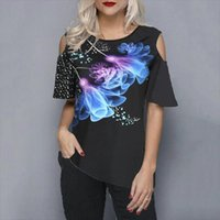 Plus Size 5xl Loose Women Shirts Casual Summer Street Hipster Print Tops Half Sleeve
