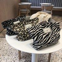Moda Leopard Imprimir Saco Cosmético Zebra Padrão Grande Capacidade Viagem Beleza Caso Armazenador Organizador Embreagem Para As Mulheres
