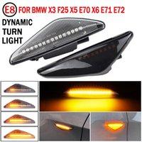 2PCS LED 턴 신호 동적 측면 마커 램프 표시 등 x3 f25 x5 E70V x6 E71 비상 조명