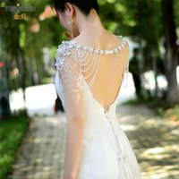 Wraps & Jackets TOPQUEEN G13 Bridal Choker Neck Shawl With Rhinestone Crystals Beaded Designer Jewelry Heirloom To Last A Lifetime Wedding C