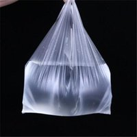 100Pcs Pack Supermarket Plastic Bags With Handle Useful Shop...