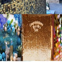 Party Decoration Cotton Candy Color Sequin Panel Wedding Backdrop Custom Adverting Sings Shop Window Background Glam Shimmer Wall