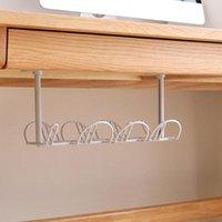 Hooks & Rails Under Desk Management Tray Table Bottom Power Cable Organizer Plug Storage Basket Shelf Wire Strong Holder Socket Hanging R A5