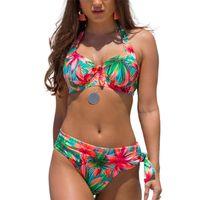 Large Size Swimsuit Sexy Women High Waist Bikini Swimwear Female Bandage Set Biquini Bathing Suit 2 piece swimsuit 210730