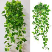 Decorative Flowers & Wreaths 2Pcs Artificial Plants Vine Faux Silk Green Leaf Hanging Party Wedding Decoration Plantas Artificiales