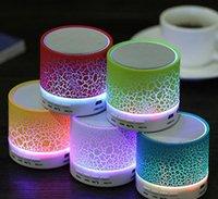 Mini altoparlanti Bluetooth wireless Stereo Portatile portatile Bluetooth Speaker LED Subwoofer musicale con supporto microfono incorporato TF Scheda FM Radio MP3 Player