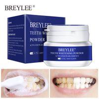 Dentes de Breylee Whitening Pó Ferramentas dentais Ferramentas Dental Dentes Brancos Limpeza de Higiene Oral Escova de Dentes Remova Manchas de Placa