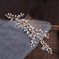 Hair Clips & Barrettes Bridal Rhinestone Pearl Combs Handmade Crystal Headband Headdress Bride Wedding Accessories