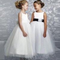 Girl's Dresses Lace First Communion Girl Dress Long Sleeve Holy Flower For Wedding