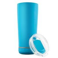 11 colores vaso creativo 18 oz al aire libre portátil agua botella de agua impermeable altavoz de doble pared de acero inoxidable vino tumblers music taza