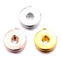 3 couleurs Snap Bouton Charm Pendentif pour boucles d'oreilles Colliers Bracelet Fit 18mm Snaps Bijoux Making Accessoires