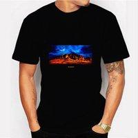 21ss Tops de verano Travis Scott Album Funda Periférica Impresión Periférica Todos los partidos Camiseta de los hombres Moda Floja suelta Tamaño Tamaño T Shirts