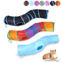 Cat Toys Pet Tunnel S Shape Funny Tube For Kitten 2 Holes Kitty Training Interactive Fun Toy Cats