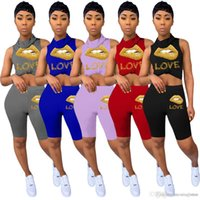 Women Summer 2 Two Piece blouses Outfits Shorts Tracksuits Sleeveless Vest With Face Mask Bodycon Biker Casual Sports Set Jogging