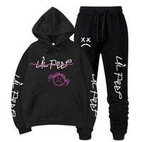 Тренажерный зал Одежда Lil Peep Hoodie Love Lil.peep Мужские 2 шт. Костюм с капюшоном Пуловер Толстовка Sudaderas Crybaby Tougsit