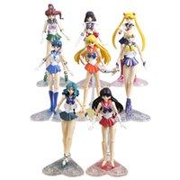 Anime Sailor Moon Venüs Jüpiter Mercury Mars Saturn Neptün Uranüs PVC Aksiyon Figürleri Koleksiyon Model Oyuncaklar 8 Stilleri X0503
