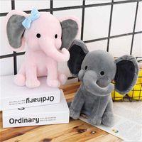 ホリデーパーティーの素敵な象のソフトピロー漫画動物豪華なおもちゃの子供の誕生日クリスマスプレゼント卸売