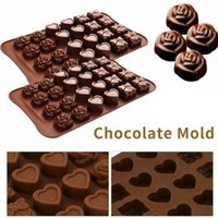 Silicone Mould Cake Chocolate Baking Mold Wax Melts Valentine Ice Rose Kitchen Tools 88202196