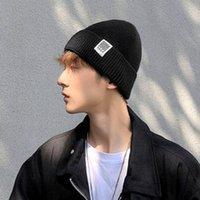 Coréen Fashion Brand Automne et Hiver HIP Laine HOP en laine Coton chaud Cold-Chapeau Black Tricoté Homme 67x