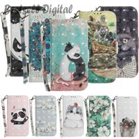 Fashion 3D Animal Pattern Case For Samsung Galaxy S7 S8 S9 S10 S20 Ultra Note 9 10 Plus Lite S10E J3 Flower Cat Flip Phone Cover Leather