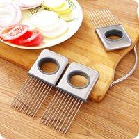 Titular de cebola fácil Ferramentas vegetais de tomate cortador de aço inoxidável gadgets não mais mãos fedorentas ccf6524