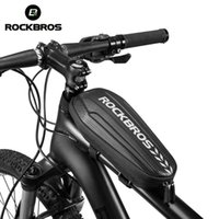 ROCKBROS Handlebar Bag Hard Shell Front Frame Scooter Waterproof MTB Road Bike Multifunctional Electric Bicycle Bags