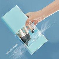 Storage Boxes & Bins Dustproof Transparent Makeup Brush, Bucket, Eyebrow Pencil Shadow Box, Table Top Cosmetics Sorting Organizer