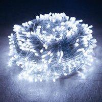 Строки трисдар 100 м 1000 светодиодные рождественские струнные свет открытый сад задворк дерева свадьба фон фон фея гирлянда