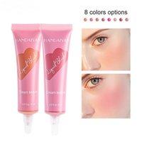 Handaiyan Liquid Cream Blush Soft Tube Moisturizing Contour Brightening Revealing Complexion Natural Matte Pearlescent Nude Makeup Blushes