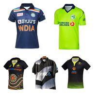 2021 كرة القدم جيرسي الهند أيرلندا أستراليا الأصلية Blackcaps Zealand Cricket قميص T20