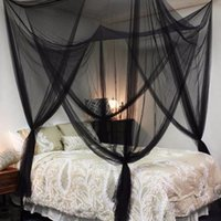Black  White Bed Canopy Mosquito Net Fabric Mesh Insect Shelterd Girls Room Princess Bed Decor Tent Protection Children