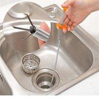 60 cm Cepillo de limpieza de alcantarillado Inicio Bañera Bañera Bañera Drío Dragar Snake Herramientas Creativo Baño Accesorios de cocina Otros suministros de baño