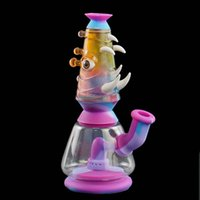 smoking bong smoke pipe water bongs pipes silicone hookahs thick glass use for tobacco