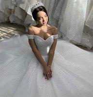 2021 роскошные жемчужные свадебные платья тюль часовня поезд Vestido de Noiva возлюбленные африканские свадебные платья