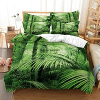 Bedding Sets Banana Leaves Duvet Cover Tropical Rainforest Green 3d Digital Printing Bed Linen Queen Size Set