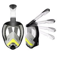 Máscara de mergulho Máscara Full Face Snorkeling Seco Anti Nevoeiro Conjunto de Segurança Máscaras de Treinamento de Natação