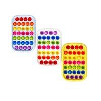 Gobang Rainbow Bubble Poppers Push Pop Fidget Toys Sensory Bubbles Puzzle Adultos Niños Ansiedad Estrés Reliever Poo-Su escritorio Juego H41EPO8