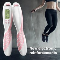 Jump Ropes Digital Counting Rope Electronic Calorie Fitness Wireless Skipping Set For Exercise Alarm Reminder Weight Setting