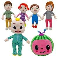Chritmas подарков 15-33 см Cocomelon плюшевая игрушка мягкая мультфильм дыня JJ семья сестра сестра брат мама и папа игрушки Dall детей