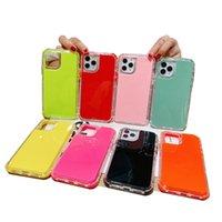 Defender Case Candy Colors Необработанные крышки 3in1 ТПУ 2.0 мм с подушками безопасности для iPhone13 12 Pro Max 11 XR XS 8 Samsunggalaxys21 Plus Ultra A11 A31 A01 A12 A32 A51 A71 A52 A72 Xiaomi
