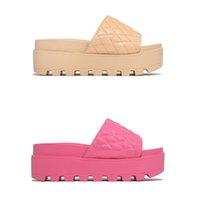 Женщина Lido Sandals кожаные открытые пальцы платформы плоские тапочки дизайнерские горки лето все-матча стилистский размер 35-43